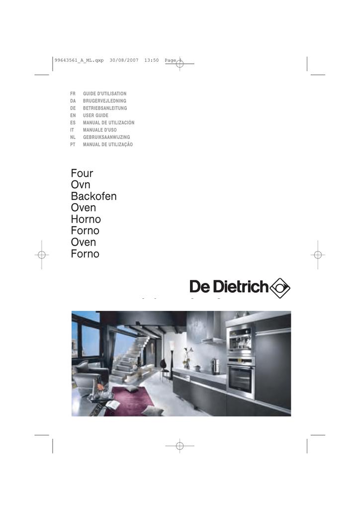 De Dietrich Dop799x Manualzz