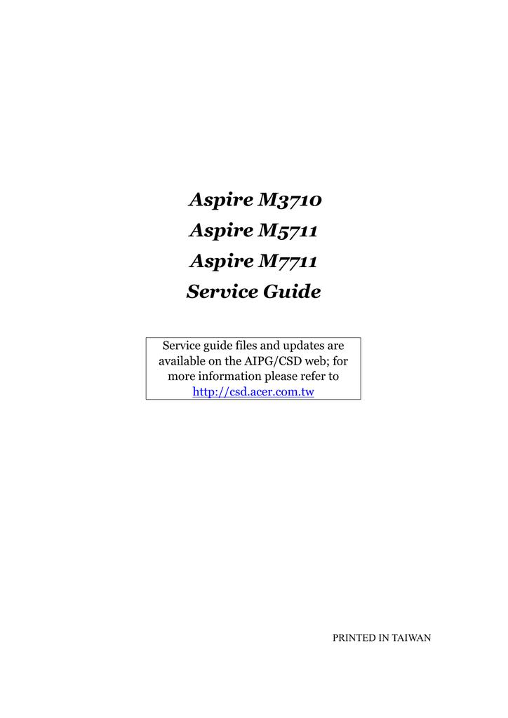 Acer Aspire M5711   manualzz com