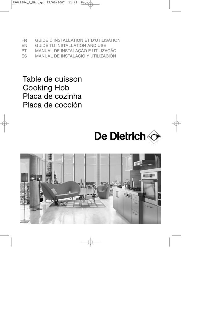 De Dietrich Dti708v Manualzz