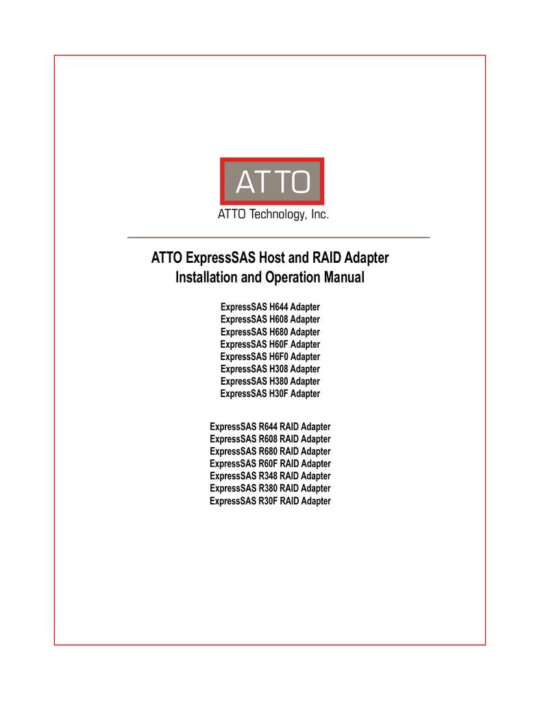 Atto ESAS-R348-000 | manualzz com