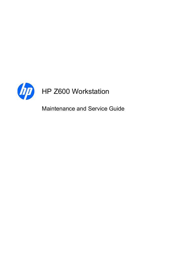 HP Z600 | manualzz com