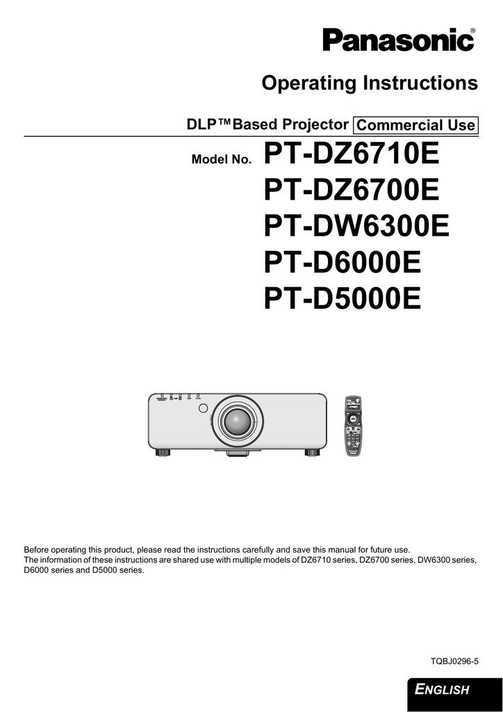 panasonic pt d6000 manual good owner guide website u2022 rh userguidelist today Panasonic Zt Panasonic Vt