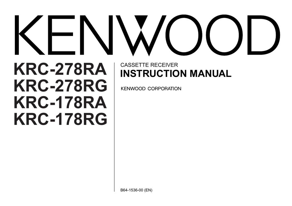 Kenwood Electronics KRC-178 RA | manualzz com