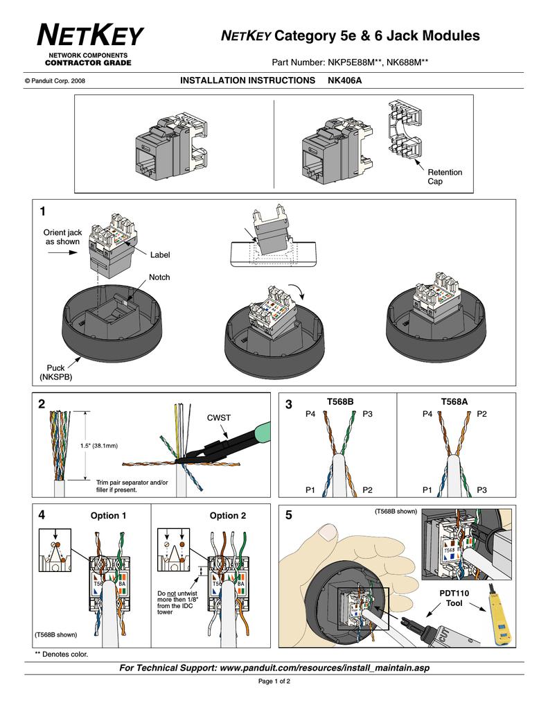 Panduit cat6 rj45 jack wiring diagram panduit circuit diagrams panduit cat6 jack wiring diagram wiring solutions rh rausco com cheapraybanclubmaster Gallery
