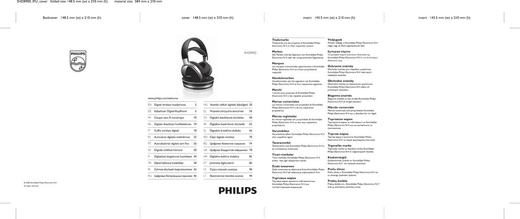 Philips Wireless HiFi Headphone SHD8900  52dcc1e1e25e