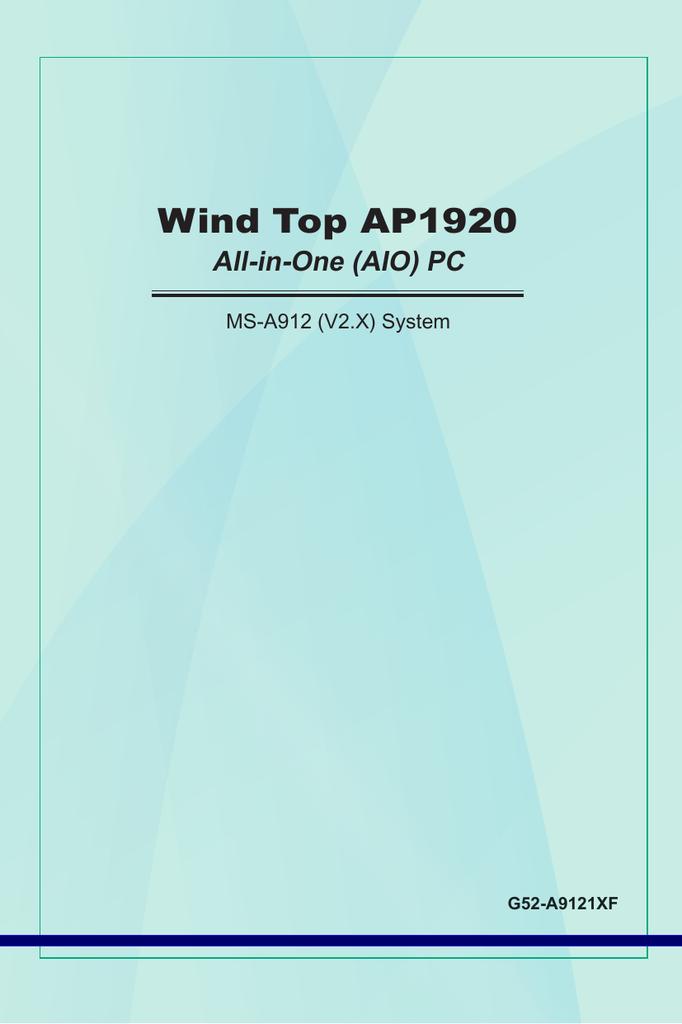 MSI WIND TOP AP1920 WINDOWS 7 64BIT DRIVER DOWNLOAD