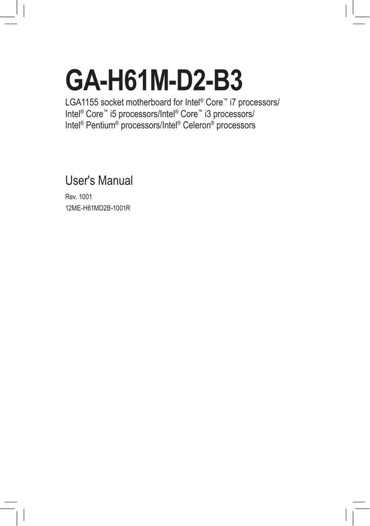 Gigabyte GA-H61M-D2-B3 motherboard   manualzz com