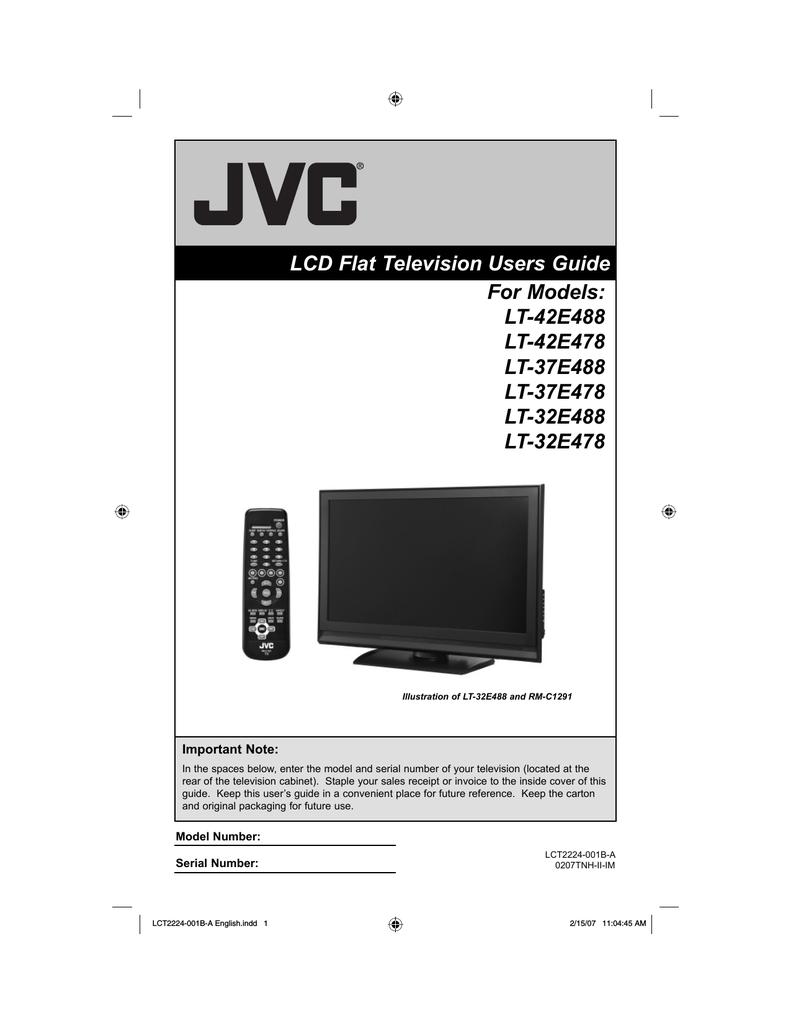 JVC LT-37E488 LCD TV | manualzz com