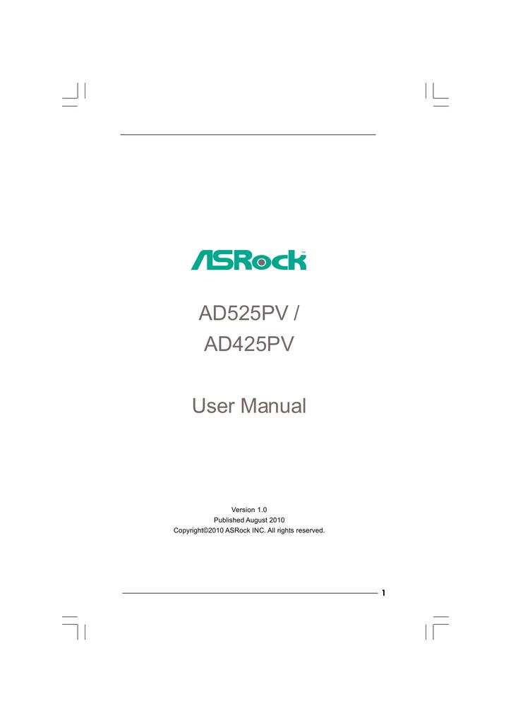 ASROCK AD425PV VIA DRIVER FOR PC