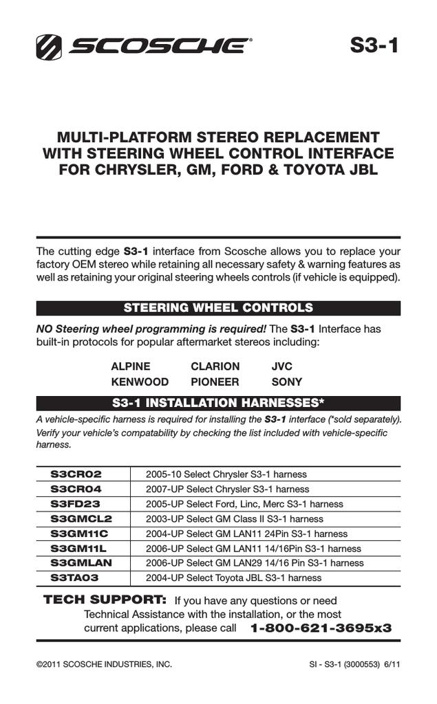 scosche s31 car kit | manualzz  manualzz
