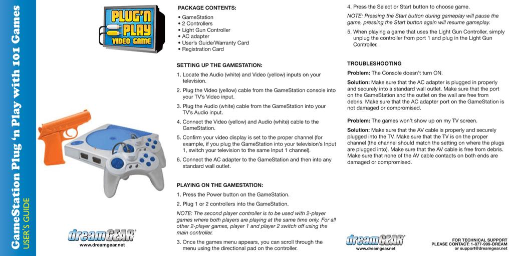 dreamGEAR DGUN-2502 game console | manualzz.com