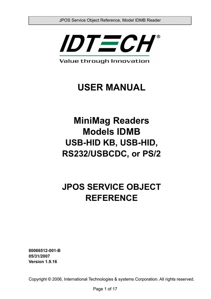 ID TECH MiniMag II   manualzz com