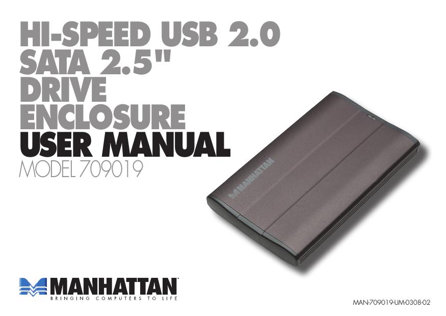 Manhattan 709019 storage enclosure | manualzz com