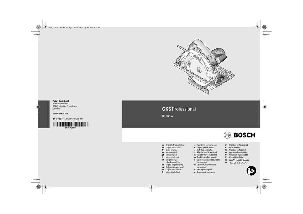 cfc8f4b5388 Bosch GKS 85 G | manualzz.com