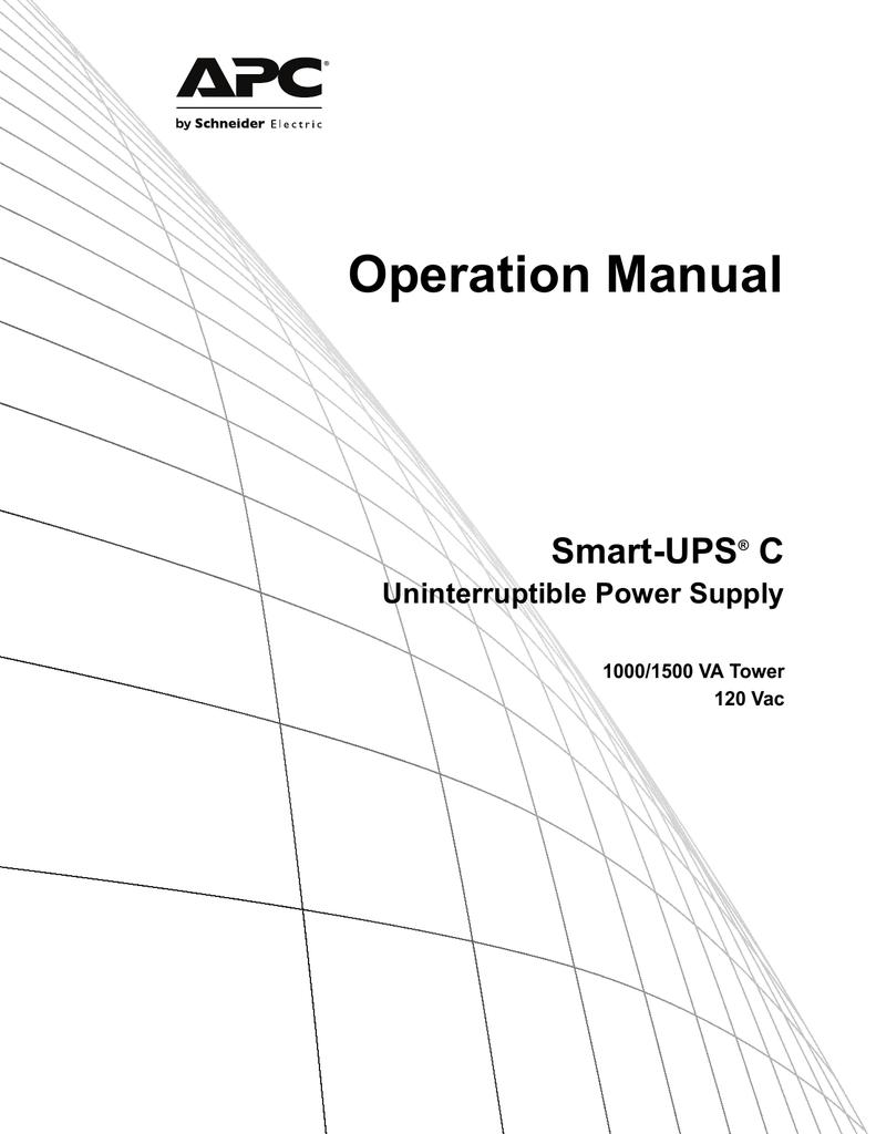 APC Smart-UPS C 1500VA LCD 120V | manualzz com