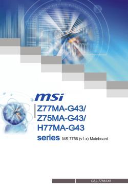 Solved: i have an msi motherboard b75 ma g43 when i turn fixya.
