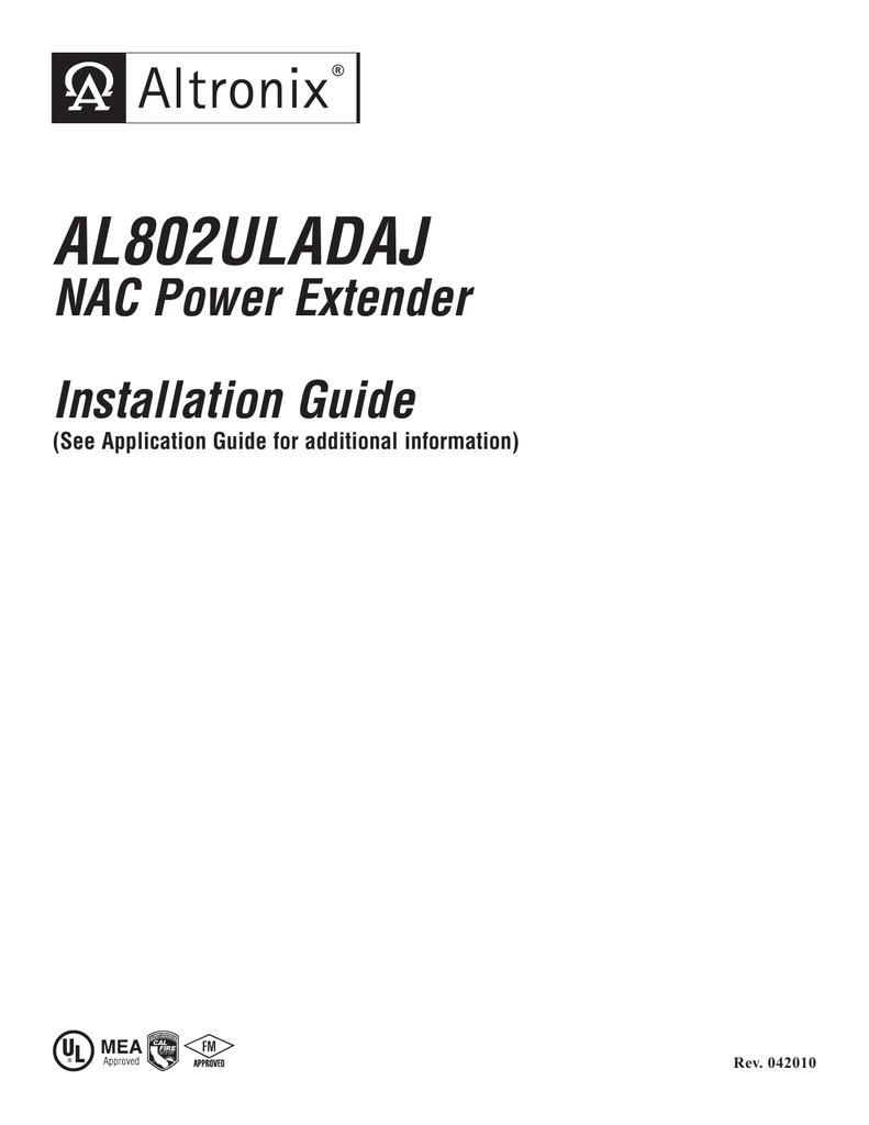 Altronix Al802uladaj Power Extension Relay Wiring Diagram