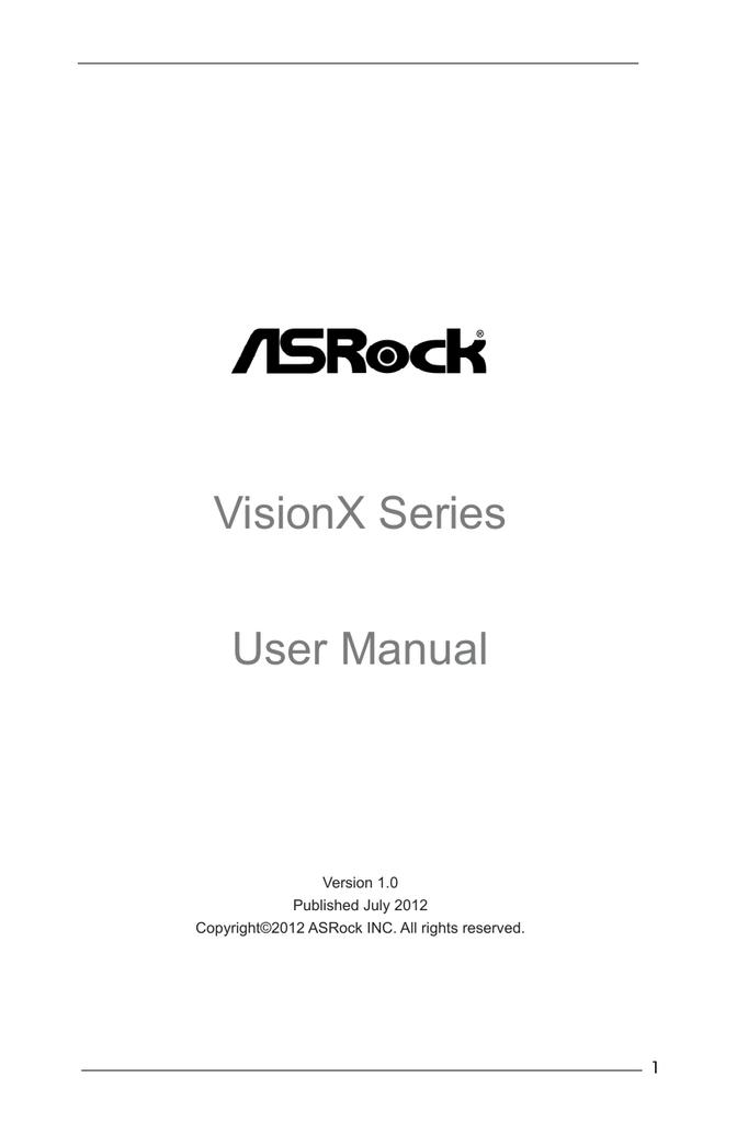ASROCK VISIONX SERIES XFAST USB DRIVER FREE