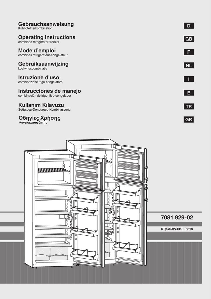 Liebherr CTP 2441 fridge-freezer   manualzz com