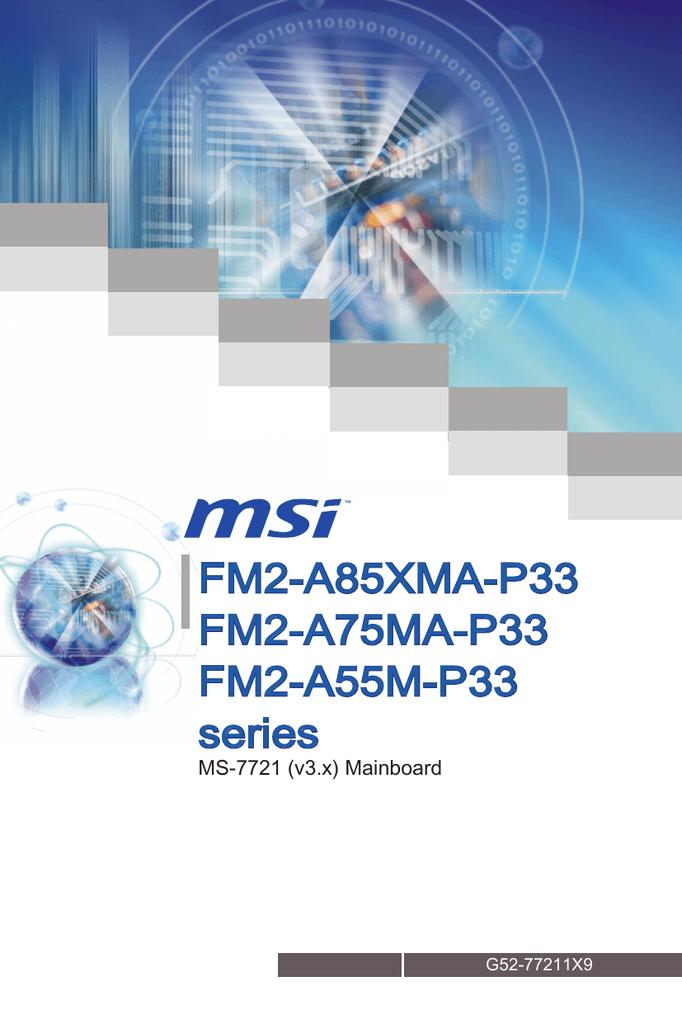 msi fm2-a75ma-p33