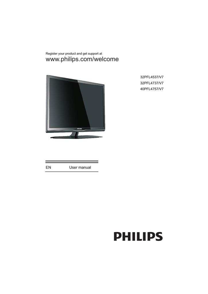 Philips 4000 series LED TV 32PFL4537   manualzz com