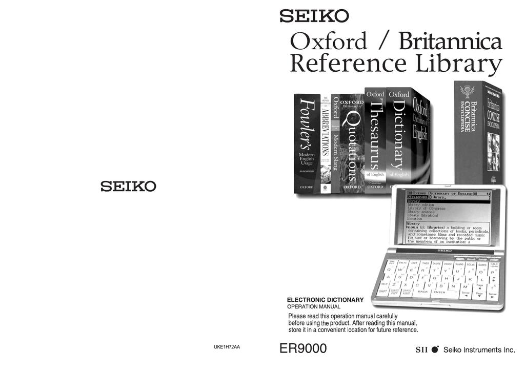 Dictionary Quotes /& Games Read Seiko ER8000 Britannica Encyclopedia Thesaurus