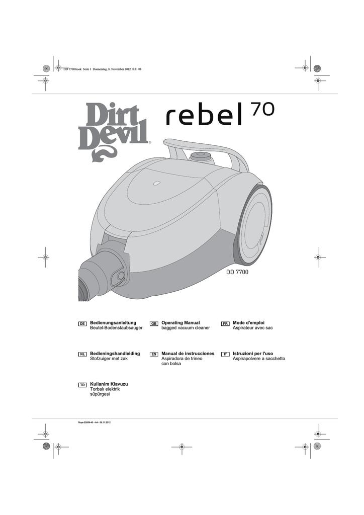 20 x Staubsaugerbeutel geeignet für Dirt Devil DD 7700 rebel 70