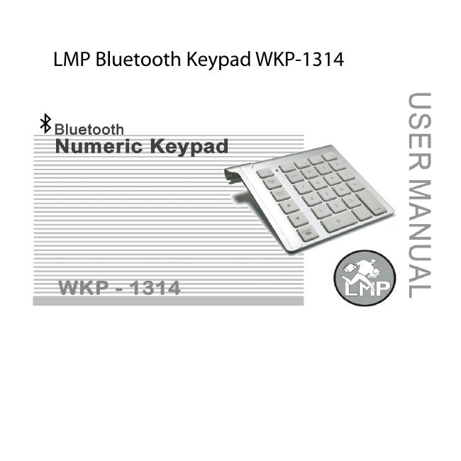 LMP Bluetooth-Tastenfeld Numerisch WKP-1314