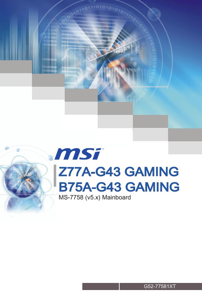 MSI B75A-G43 Intel Smart Connect Technology Driver UPDATE