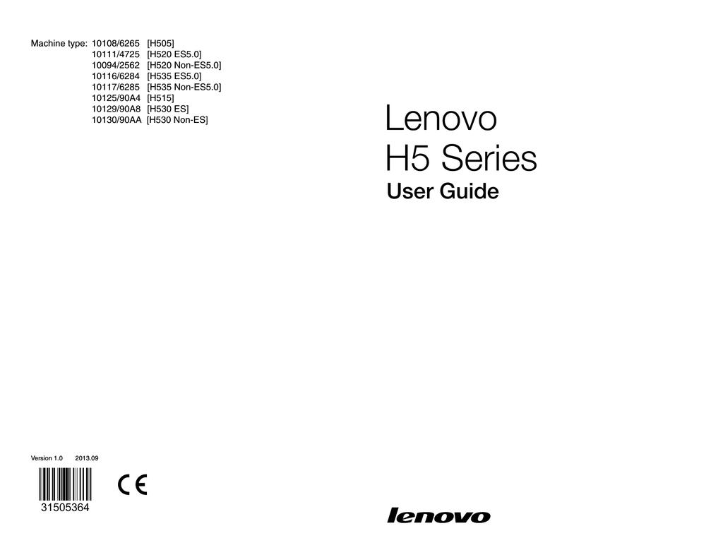 Lenovo IdeaCentre H535 | manualzz com
