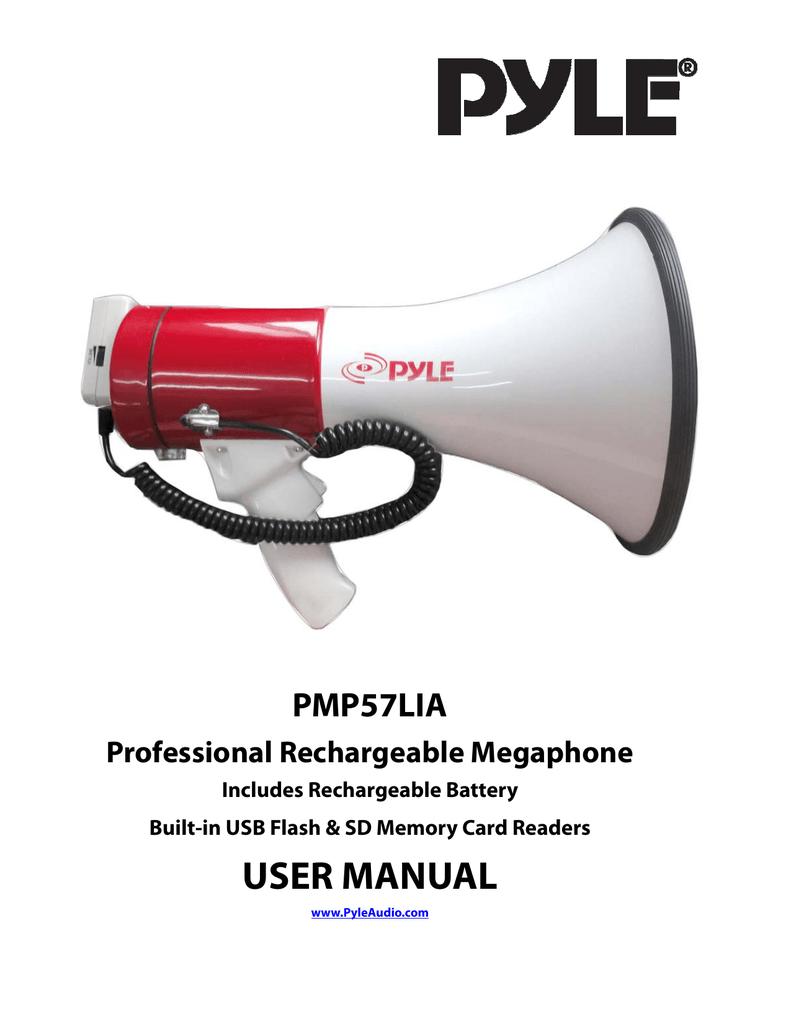 PYLE PMP57LIA Pyle Pro Megaphone with Siren TALK USB SD Card
