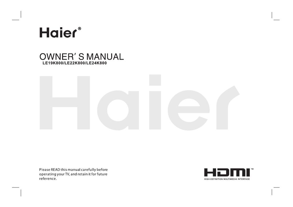 Haier LE48M600 LED TV | manualzz com