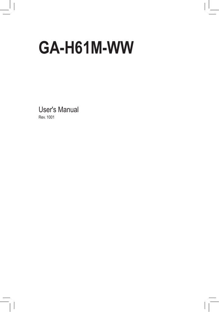 Gigabyte GA-H61M-WW (rev  1 0)   manualzz com