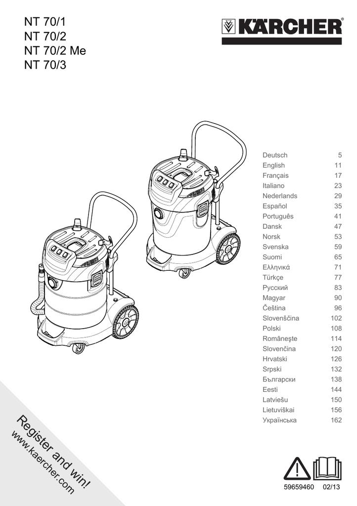 Cartridge filter for Kärcher NT 70//2 *GB NT 70//2 Adv *EU NT 70//2 Me NT 70//2