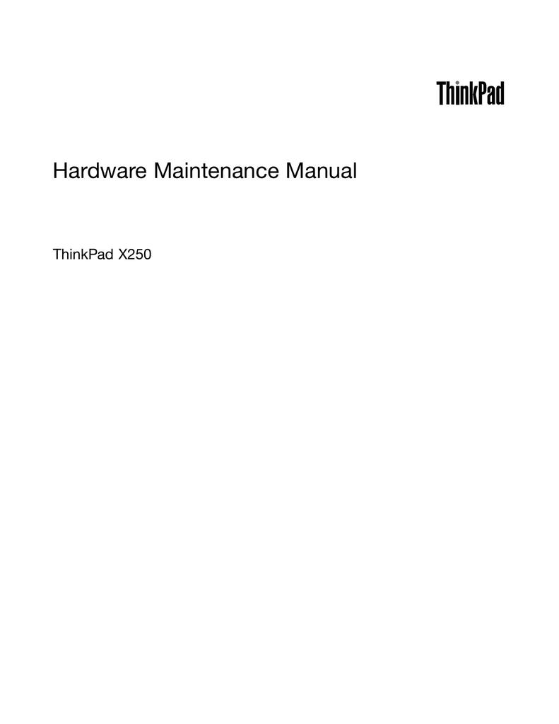 Lenovo ThinkPad X250 | manualzz com