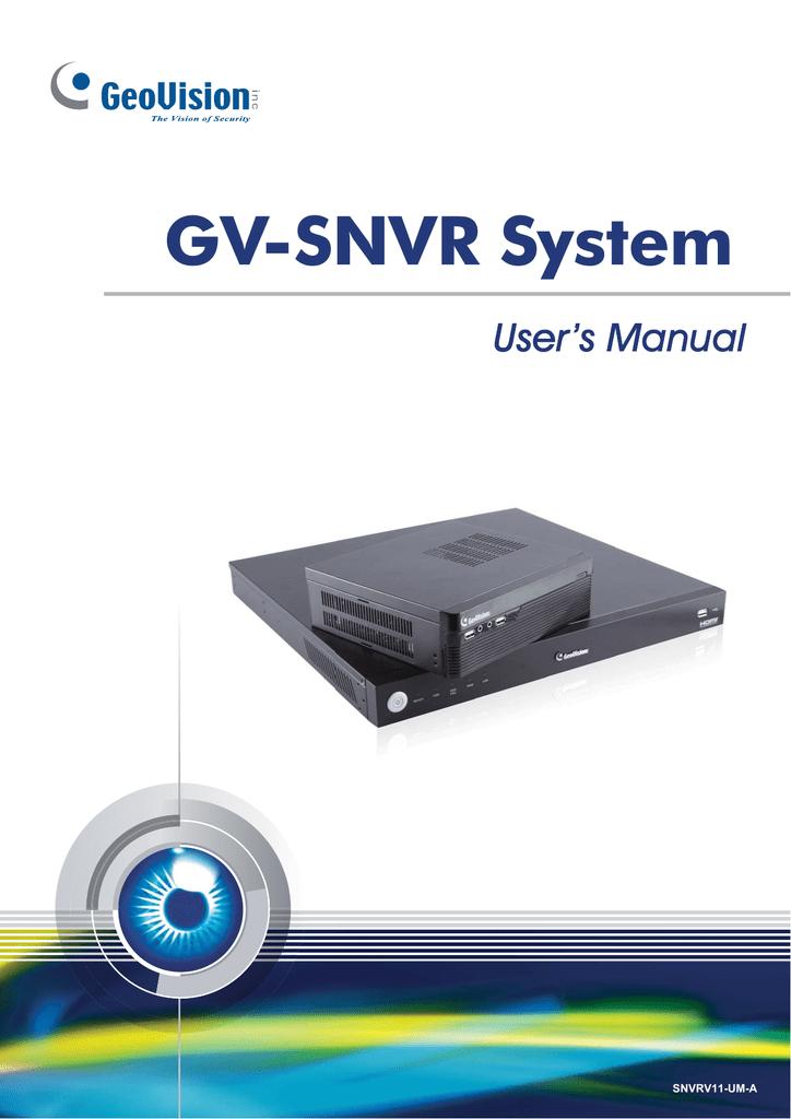 Geovision GV-SNVR1600 digital video recorder   manualzz com