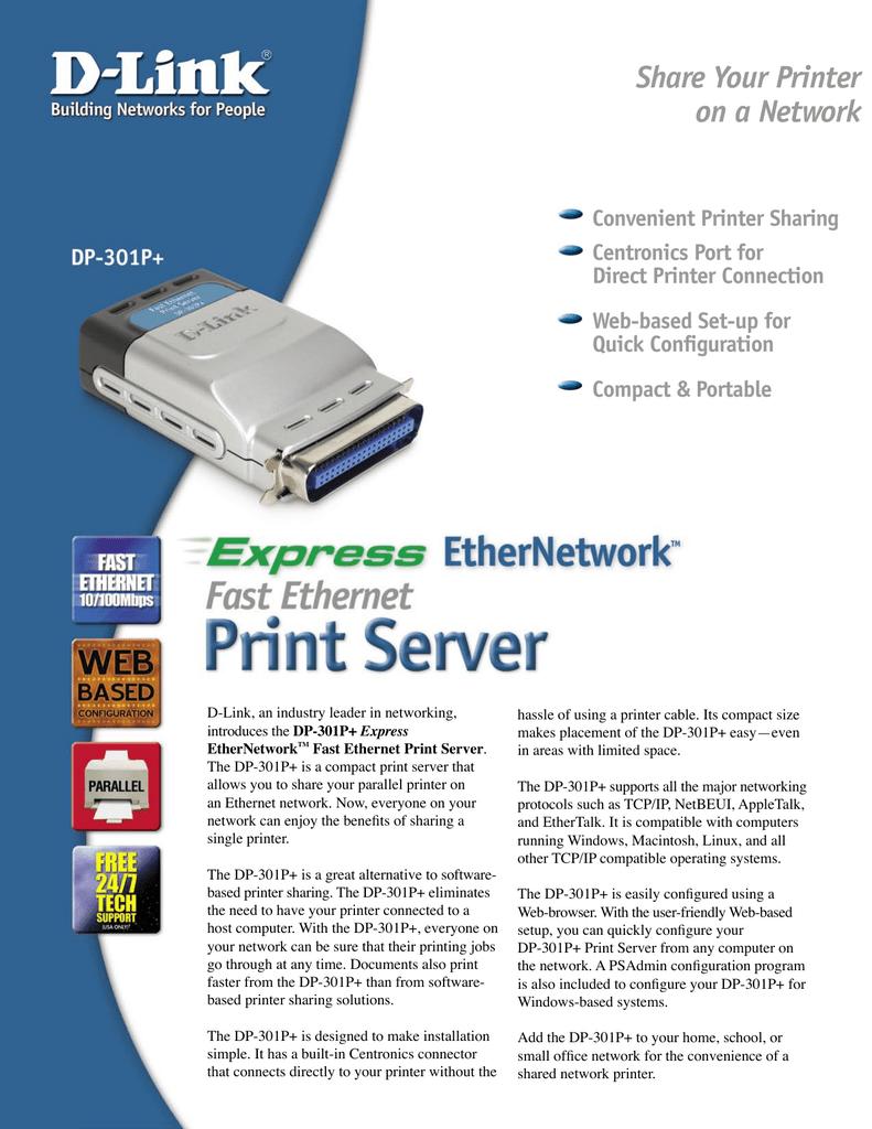 D Link Fast Ethernet Print Server Manualzz