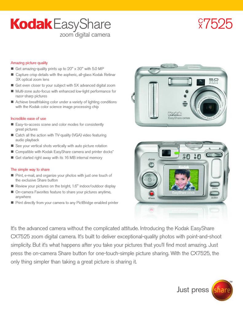 Kodak EASYSHARE CX7525 | manualzz com