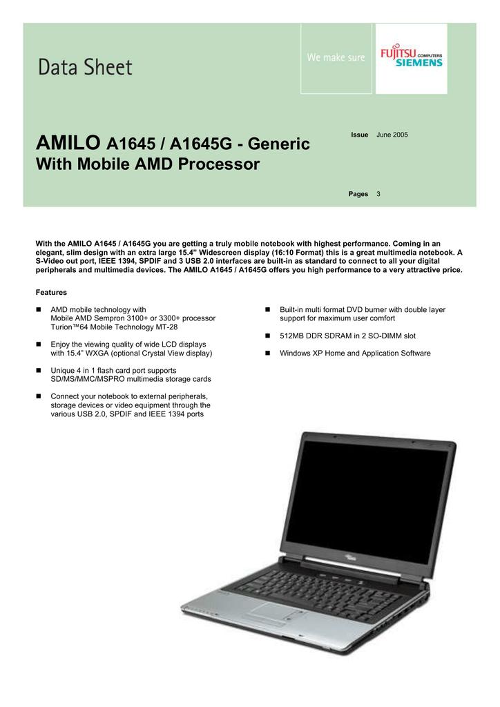 AMILO A1645 SOUND DRIVER (2019)