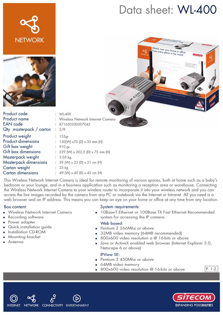 Sitecom wireless network internet security camera 54g | manualzz.