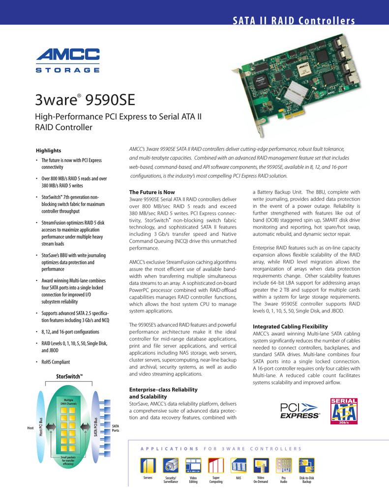 LSI 9590SE-12ML 12 Port Serial ATA II Hardware RAID