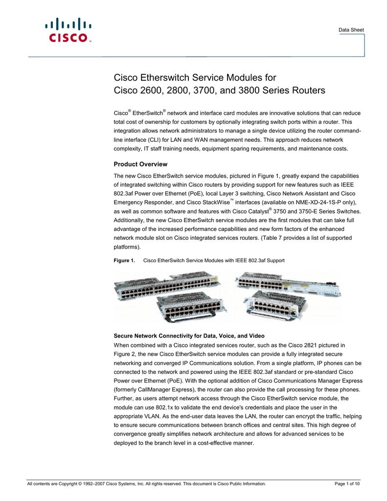 Cisco EtherSwitch Service Module - 48 ports | manualzz com