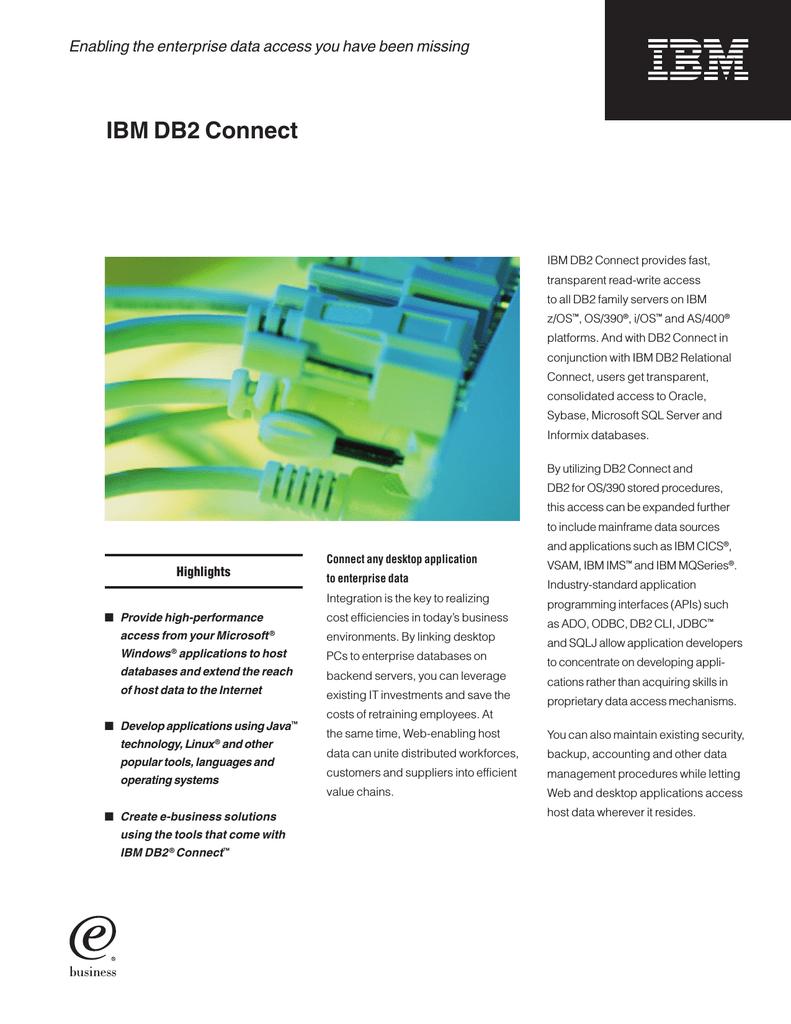 IBM DB2 Connect Enterprise Edition V9 1 | manualzz com