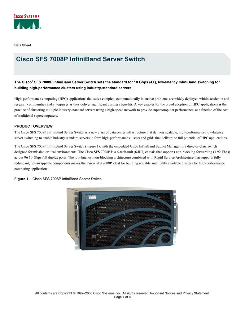 Cisco SFS 7008P Rail Kit | manualzz com