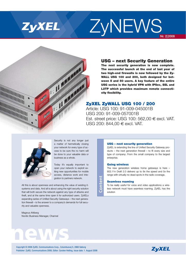 ZyXEL USG-100 | manualzz com
