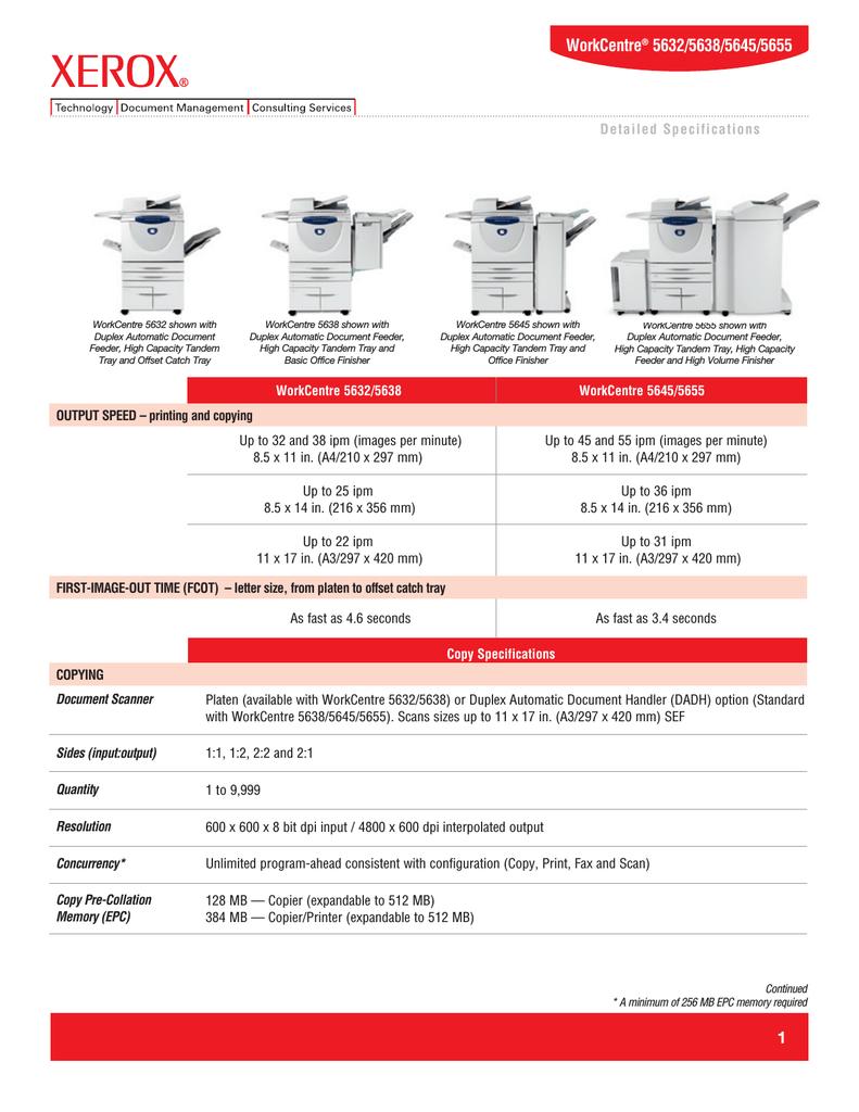 Xerox WorkCentre 5632 P   manualzz com