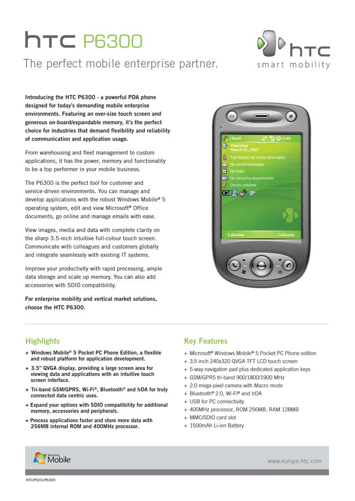 HTC TyTN II, UK | manualzz com