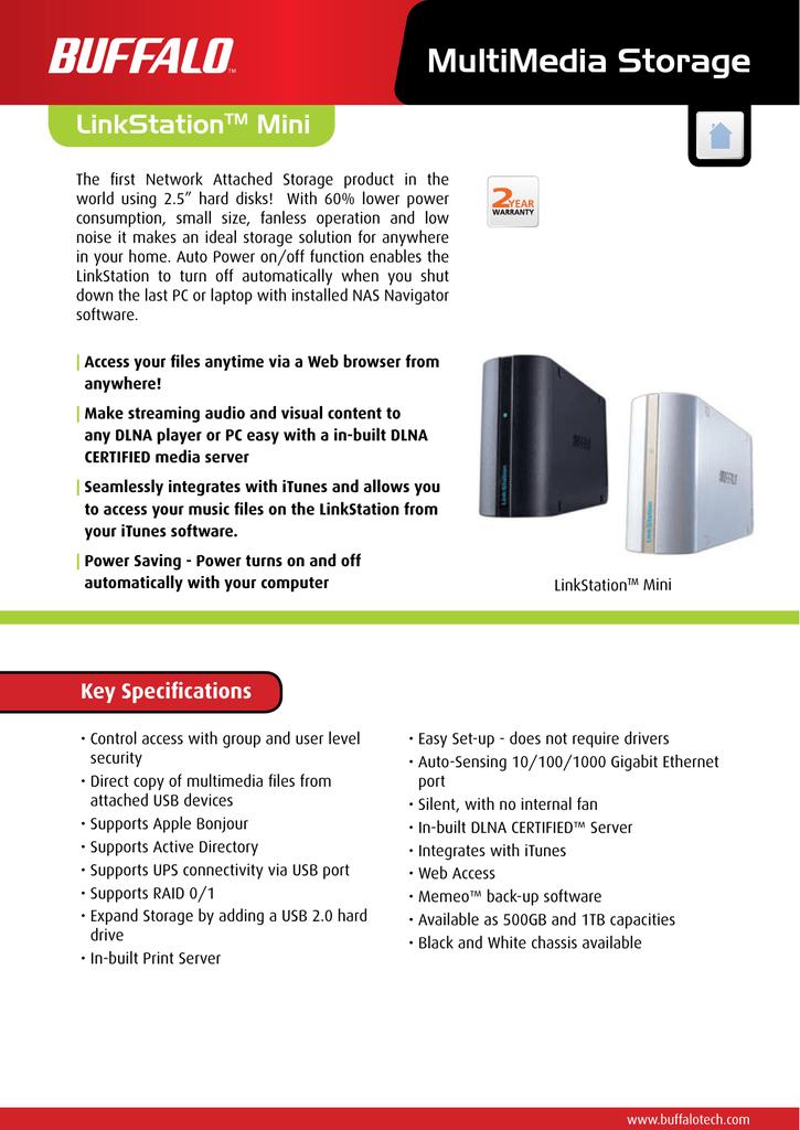 Buffalo LinkStation Mini | manualzz com