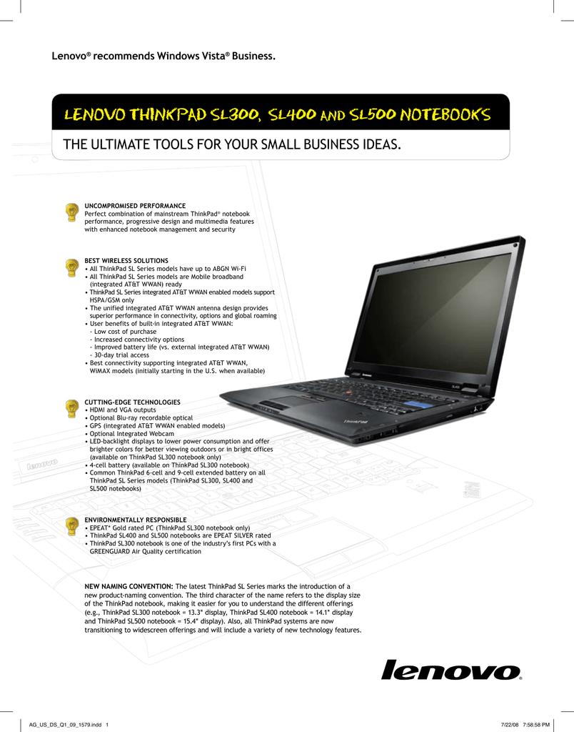 Lenovo ThinkPad SL400 | manualzz com