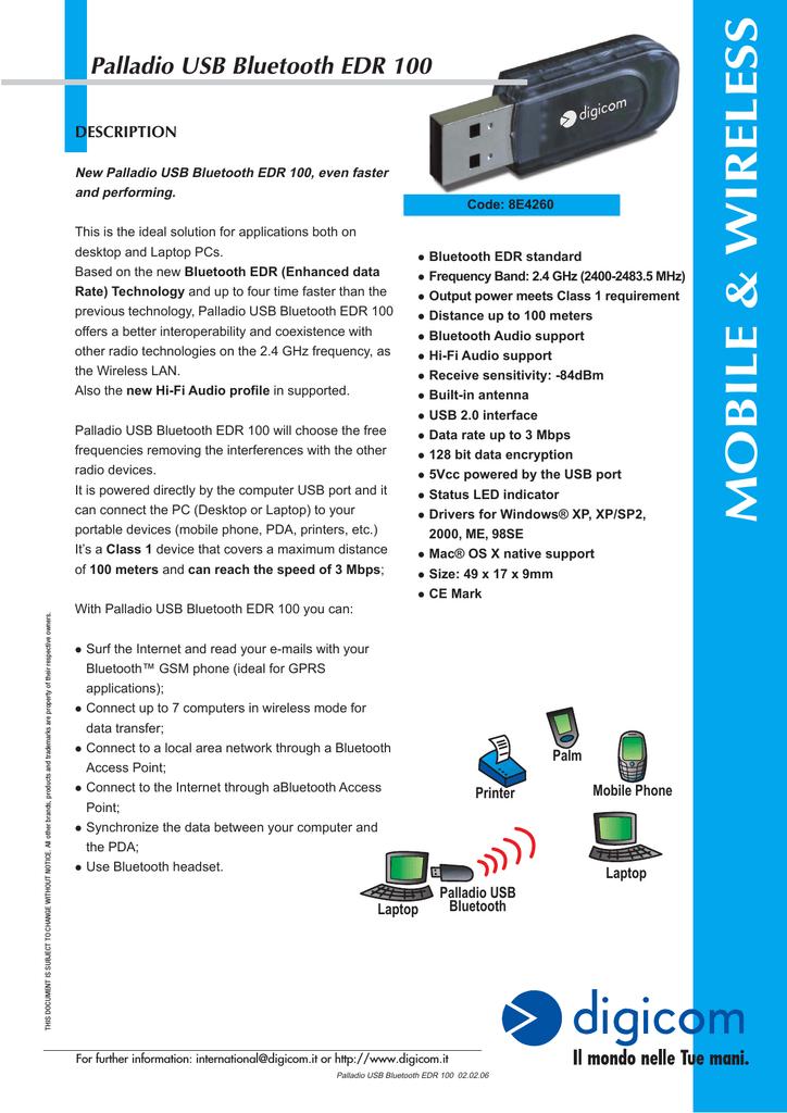 DIGICOM BLUETOOTH USB ADAPTER DRIVERS WINDOWS 7 (2019)